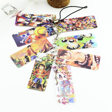 Anime ONE PIECE Pvc Card String Keychain 8 pcs