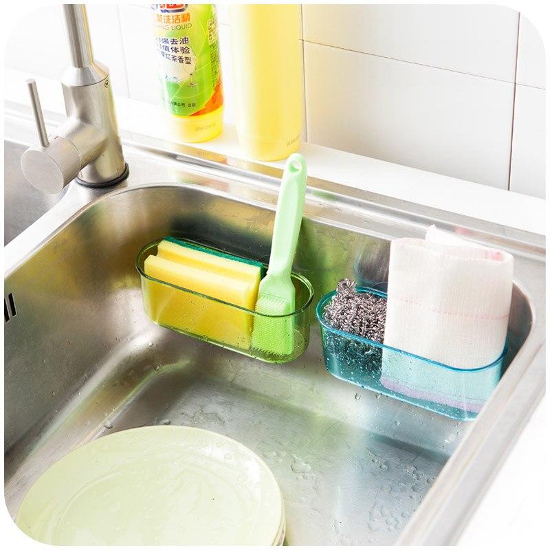 Wall Mounted Sucker Plastic Storage Organizer Box Kitchen Sink Suction Brush Bathroom Shelf Rack Hanging Sponge Holder Draining Holder Set Shelves Deskholder Acrylic Aliexpress