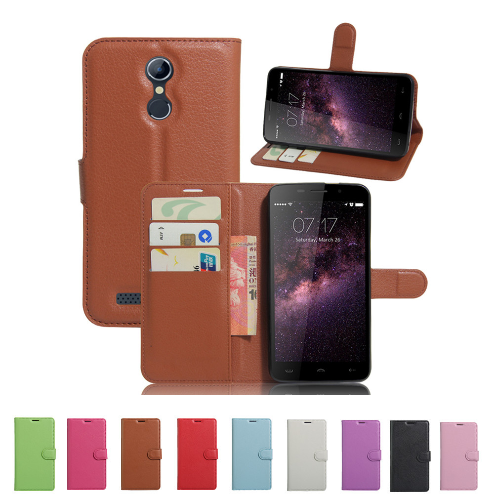 Homtom HT17 Case Luxury Wallet PU Leather Case for Homtom HT17 Pro Flip Protective Cell Phone