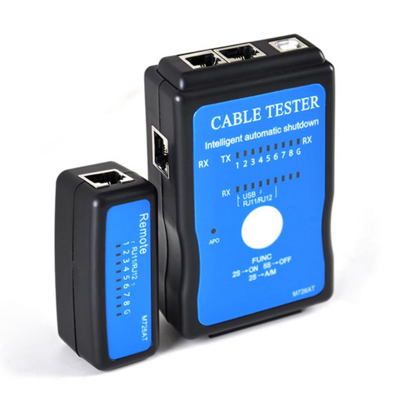 Portable Multi-Modular Ethernet Network LAN RJ-45 Cat5 RJ11 RJ12 USB BNC LAN Network Phone Cable Tester Mete Outside Remote New