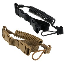 Black Tactical Two Point Rifle Sling Adjustable Bungee Tactical Airsoft Gun Strap System Paintball Gun Sling for Airsoft Hunting tactical hunting gun sling adjustable 1 single point bungee rifle sling strap system new 3 colors