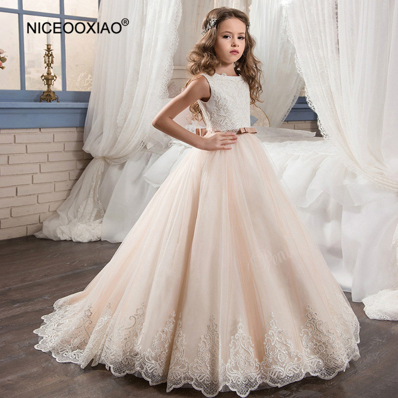 NICEOOXIAO Fluffy Lace   Flower     Girl     Dress   Tulle   Girl     Dress   Party Performance Children's Beautiful Evening   Dress   BNLF611-33