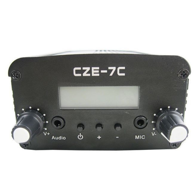 FMUSER  CZH CZE-7C  7W  FM stereo PLL broadcast transmitter 76-108MHZ FREE SHIPPING free shipping fmuser fsn 150k 150w fm broadcast transmitter assemble pcb kit