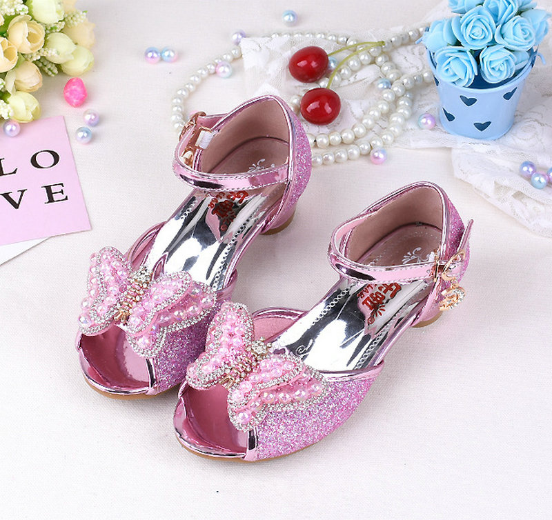 60899118 Summer Butterfly pearl Girls Princess Sandals Zapatos para niños ...
