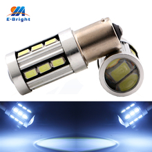 4-100pcs 12V 1156 BA15S BAU15S Cold White 5730 18 SMD Led Bulbs 8000K Tail Parking Reverse Turn Lights Indicator Free Shippping