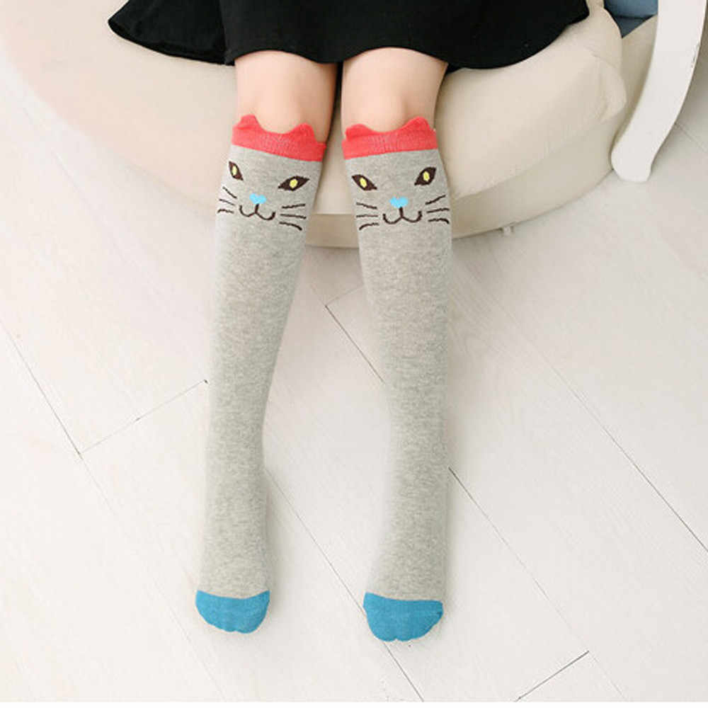b333608a1 ... Lovely Cute Kawaii Girls Stockings Character Printed Children Kids Girl  Animal Pattern Knee High Socks harajuku ...