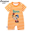 2016 Summer Cotton Newborn Baby Rompers Short Sleeve Romper Baby Boys Clothes Infant Jumpsuit  Bebes Brand Baby Girl Clothing