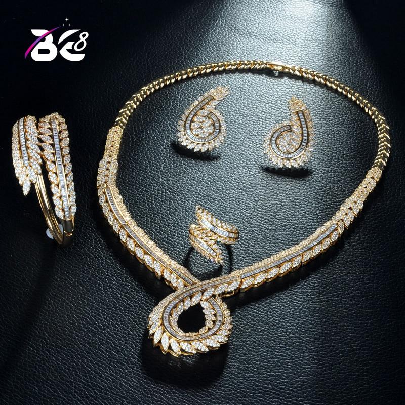 Be 8 African 4pcs Bridal Zirconia Jewelry Sets for Women Party, Luxury Dubai Nigeria CZ Crystal Wedding Jewelry Bijoux FemmeS298Be 8 African 4pcs Bridal Zirconia Jewelry Sets for Women Party, Luxury Dubai Nigeria CZ Crystal Wedding Jewelry Bijoux FemmeS298