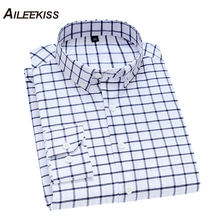 AILEEKISS Mens Shirts High Quality Long Sleeved Men Casual Shirt Button-down Neck Simplicity Homme Soft Clothes XT815