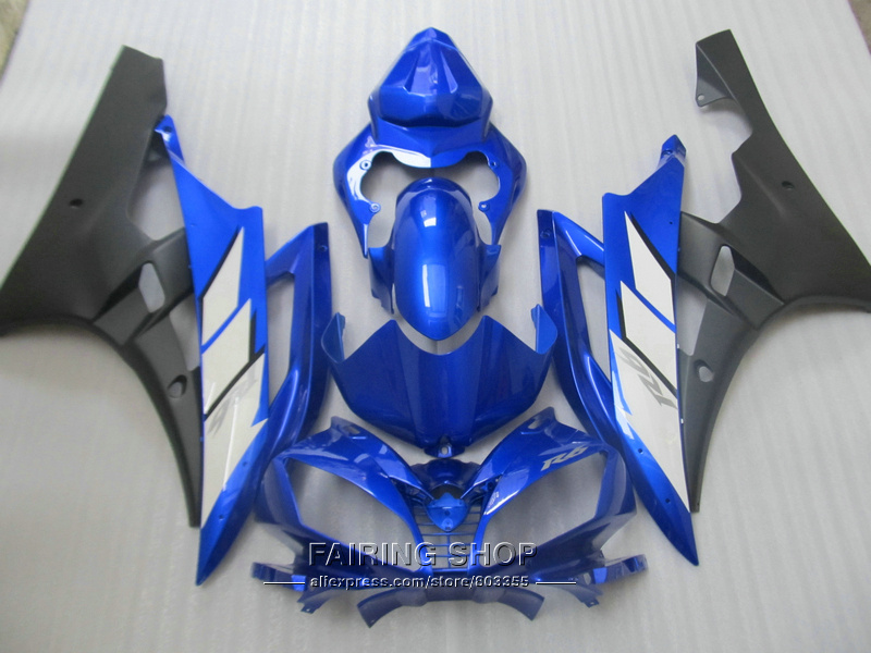 100% fit injection mold fairings For Yamaha YZF R6 07 08 blue black motorcycle fairing kit YZF 2006 2007 YT27 kemimoto r6 motorcycle complete full set of fairing bolts bolt kit body screws for yamaha yzf r6 2006 2007 r6