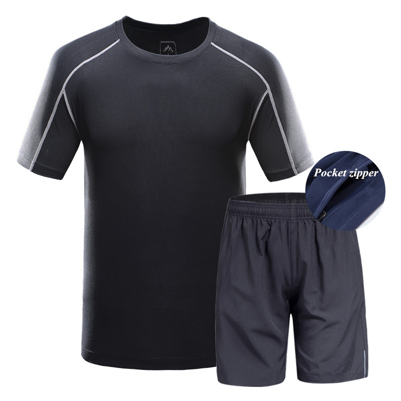 2018 Cycling Sets Summer Quick-Drying Sports Suit Men Outdoor Riding Solid Colors Shorts Men's Short Sleeve Cycling Jersey Sets arsuxeo breathable sports cycling riding shorts riding pants underwear shorts