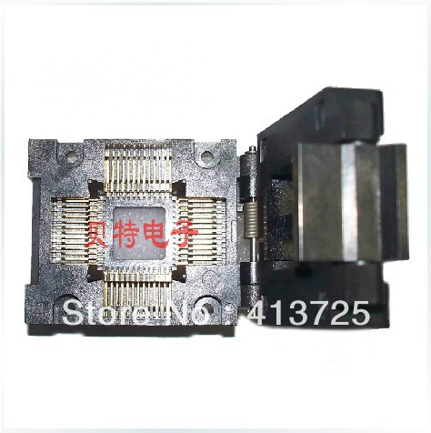 Block burning imported IC TQFP52/FPQ-52-1.0-05 test, switching adapter ic qfp32 programming block sa636 block burning test socket adapter convert