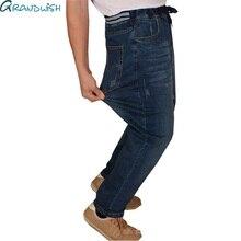 Grandwish Männer's Lose Gerade Jeans Plus Größe 5XL Mens Strech Denim Jeans Elastische Taille Mens Jeans Baggy Fit Voller Länge, PA822