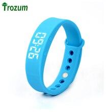 TROZUM W5 SmartWatch Браслет Браслет Bluetooth Спортивные Часы Шагомер Калорий монитор 3D Шагомер Термометр Молчание Вибрации