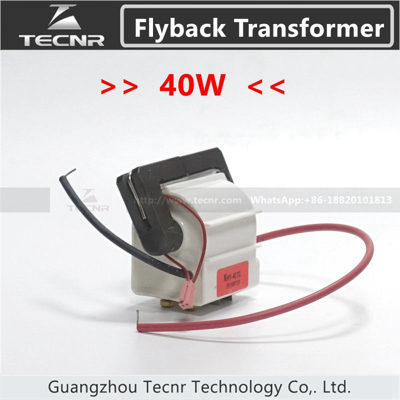40W High Voltage Flyback Transformer  For 40W CO2 Laser Power Supply Parts