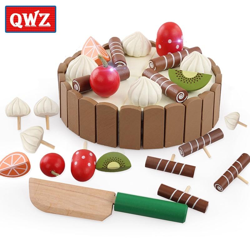 Aliexpress Buy Qwz Wooden Baby Kitchen Toys Pretend