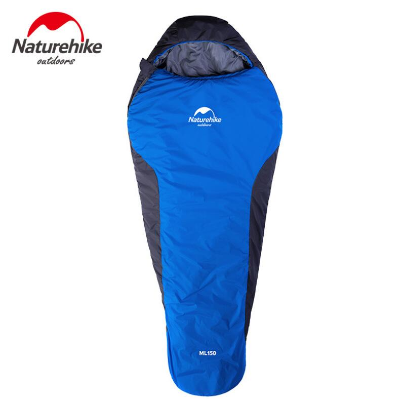 Naturehike Outdoor Camping Sleeping Bag Adult 210T Waterproof Nylon Cotton Mummy Sleeping Bag For Tourism Hiking NH15S013-D adult down outdoor camping sleeping bag mummy model sleeping bag with waterproof nylon sleeping bag