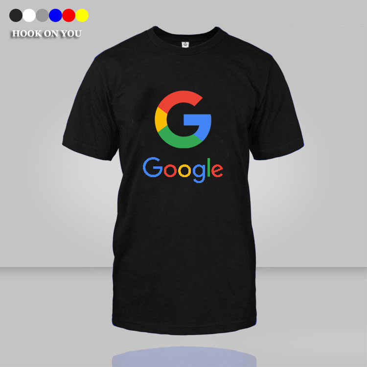Funny print Google men T shirts Summer Slim Fit Casual Man Tees Fashion Normal o-neck short sleeve T-shirts homme
