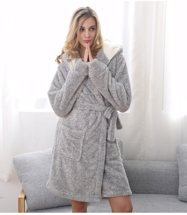UK Brand EUR size for woman winter bear hooded soft warmth long bathrobes  home pajamas bath robes with hat S L on Aliexpress.com  cd0f9984a