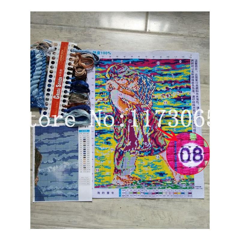Robótki, DIY DMC Cross stitch, Zestawy do zestawy do haftu, - Sztuka, rękodzieło i szycie - Zdjęcie 5