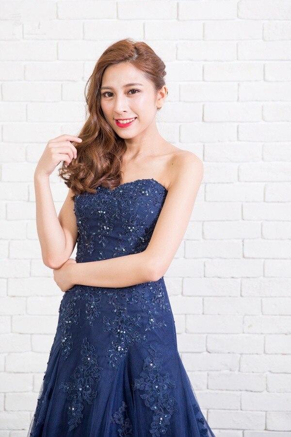 Vinca Sunny 2019 nouvelle mode Robe de soirée longues robes de bal Sexy sans bretelles perles Tulle formelle Robe de soirée robes de soirée - 3