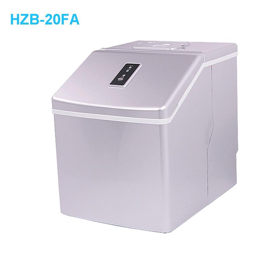 1pc HZB-20FA  Ice Maker Machine Portable Automatic Ice Cube Maker Machine Bullet Round Ice Block Making Machine 25kgs/24H  220V