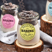 6pcs 150ml jam jar Baked Pudding Cup Mousse Jelly Yogurt with a High Temperature Glass Bottle Party Jar
