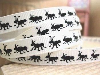 (5yds por rollo) 5Y14308 3/8 cinta de grogrén de hormiga cinta impresa cinta de embalaje para boda embalaje de regalo de decoración DIY