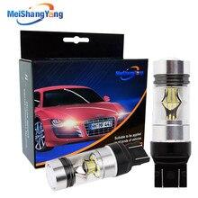 1 Pair car auto bulbs 7440 7443 3030 20 SMD Pure White 100WBrake Reversing daytime running lights car-styling 12V 24V