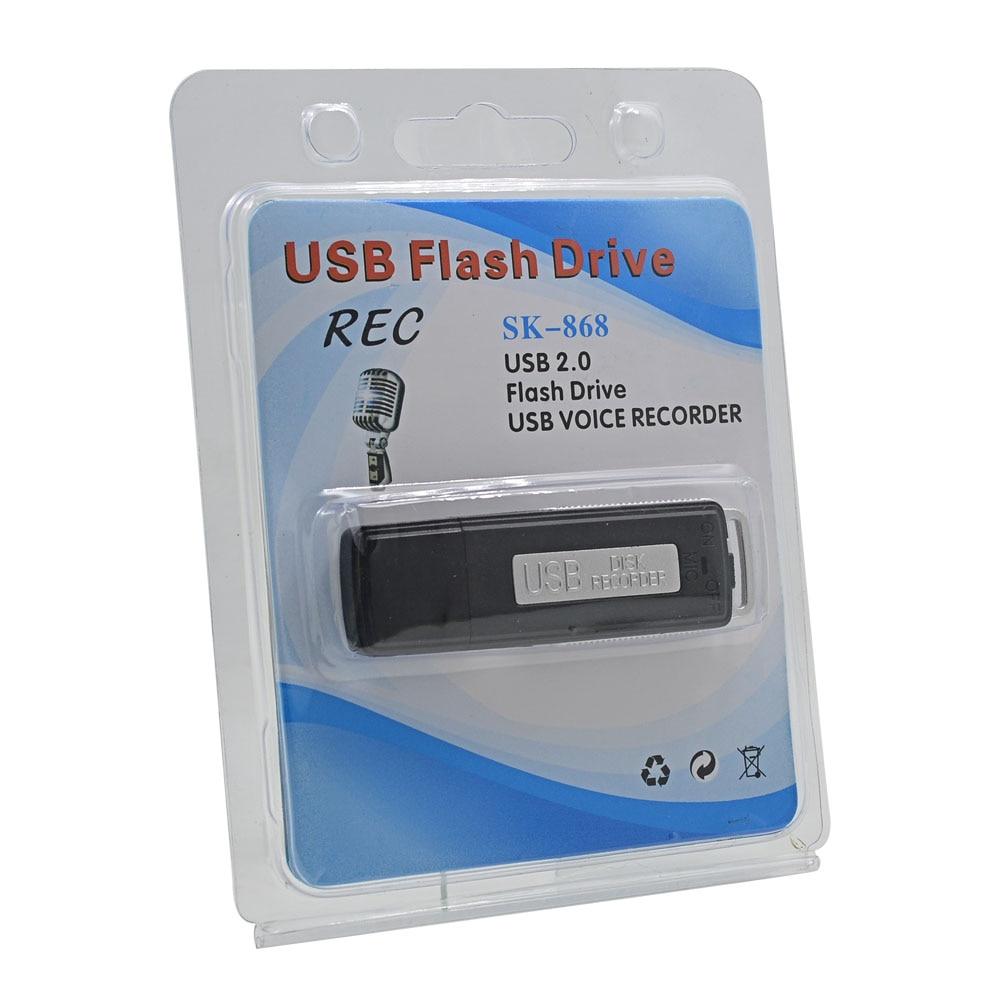 Alta Qualidade Mini Gravador de Voz Ativado Gravador De Áudio Digital 8 GB USB Flas Caneta Recarregável Ditafone Gravador de voz Profissional
