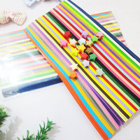 Free Shipping 1000 Strips Package 27 Candy Colors Handcraft Origami Lucky Star Strips DIY Paper Decoration