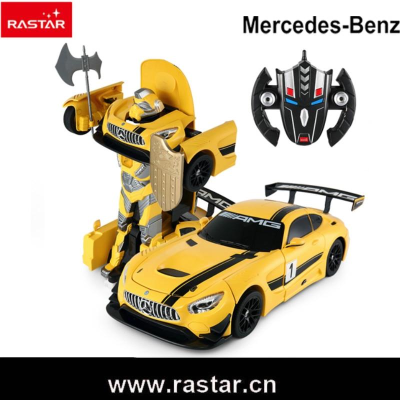Rastar RC Car 1:14 RC Deformation Robot Car USB Control Remoto Transformer Changeable Robot Car For Children Gift