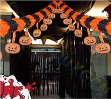 party bar DIY Paper Chain Garland Decorations Pumpkin Bat Ghost Spider Skull Shape Halloween Decor cutting