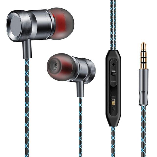 Наушники-вкладыши Hifi металлические наушники мм 3,5 мм Super Bass Наушники Сабвуфер стерео наушники с микрофоном для компьютера мобильного телефона