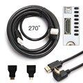 5 М 3in1 HDMI к HDMI/Mini/Micro HDMI Кабель Адаптера Комплект HD для Планшетных для ПК