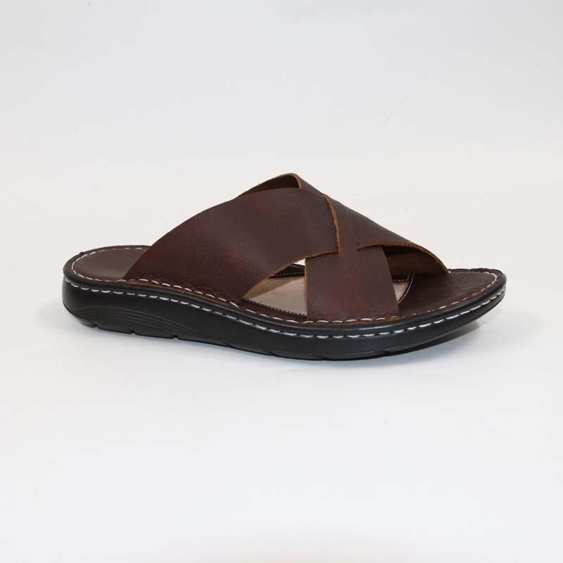 Men s genuine leather slippersHead Leather SandalsClassic Comfortable Male SlippersSummer men s slippers