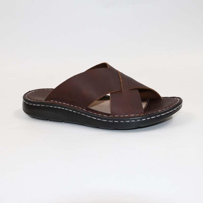 Men's Genuine Leather SlippersHead Leather SandalsClassic Comfortable Male SlippersSummer Men's Slippers