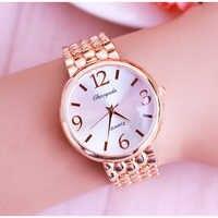 2018 senhoras de escritório feminino rosa ouro aço inoxidável luxo quartzo relógio pulso meninas eletrônico à prova dwaterproof água vestido pulseira relógios