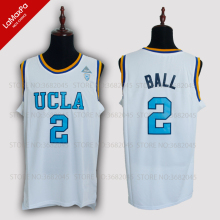 the best attitude fddba dfc39 No.2 Lonzo Ball UCLA College Basketball Jersey High Quality Breathable  fabrics White Blue Colors Sleeveless Jerseys Throwback