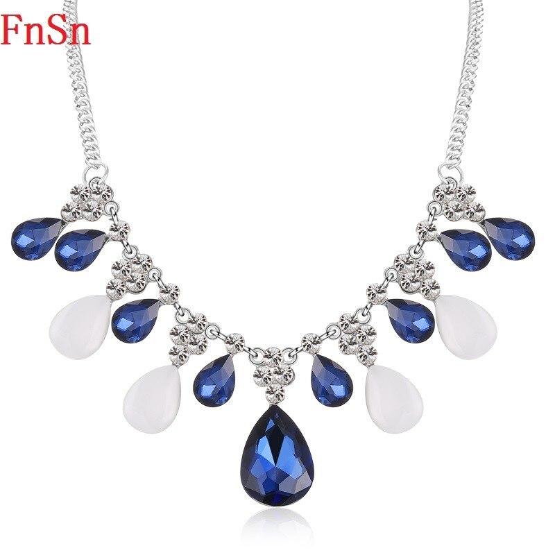 FnSn Nové Hot Chokers Crystal Statement Náhrdelník Šperky Dámské Kamínky Límec Dárek Kvalitní turecké šperky Parure N146