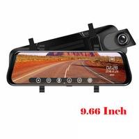 Car Rearview Mirror Dash Cam 9.66 Inch 1080P Full HD Touch Screen 720P Rear Camera Car DVR Car Driving Video Recorder Camera