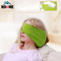 Hoiime Travel Pillow With Eye Mask Car Air Flight Pillows Neck Support Headrest Cushion Soft Nursing 2-in-1 U Shaped Cushion