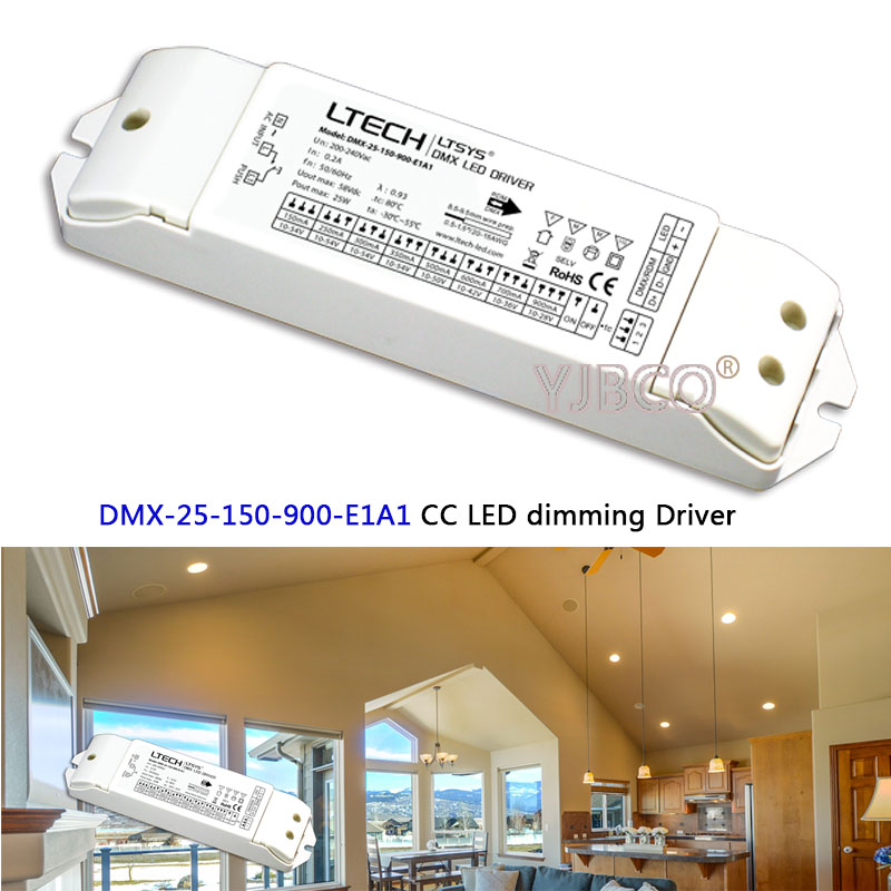 New DMX-25-150-900-E1A1 25W 150-900mA 200-240VAC CC DMX LED dimming Driver instead of DMX-25-180-700-F1P1 LED Driver цена 2017