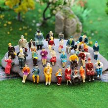 Toys 50 seats ratio 1:87 miniature doll model statue landscape can collect childrens toys