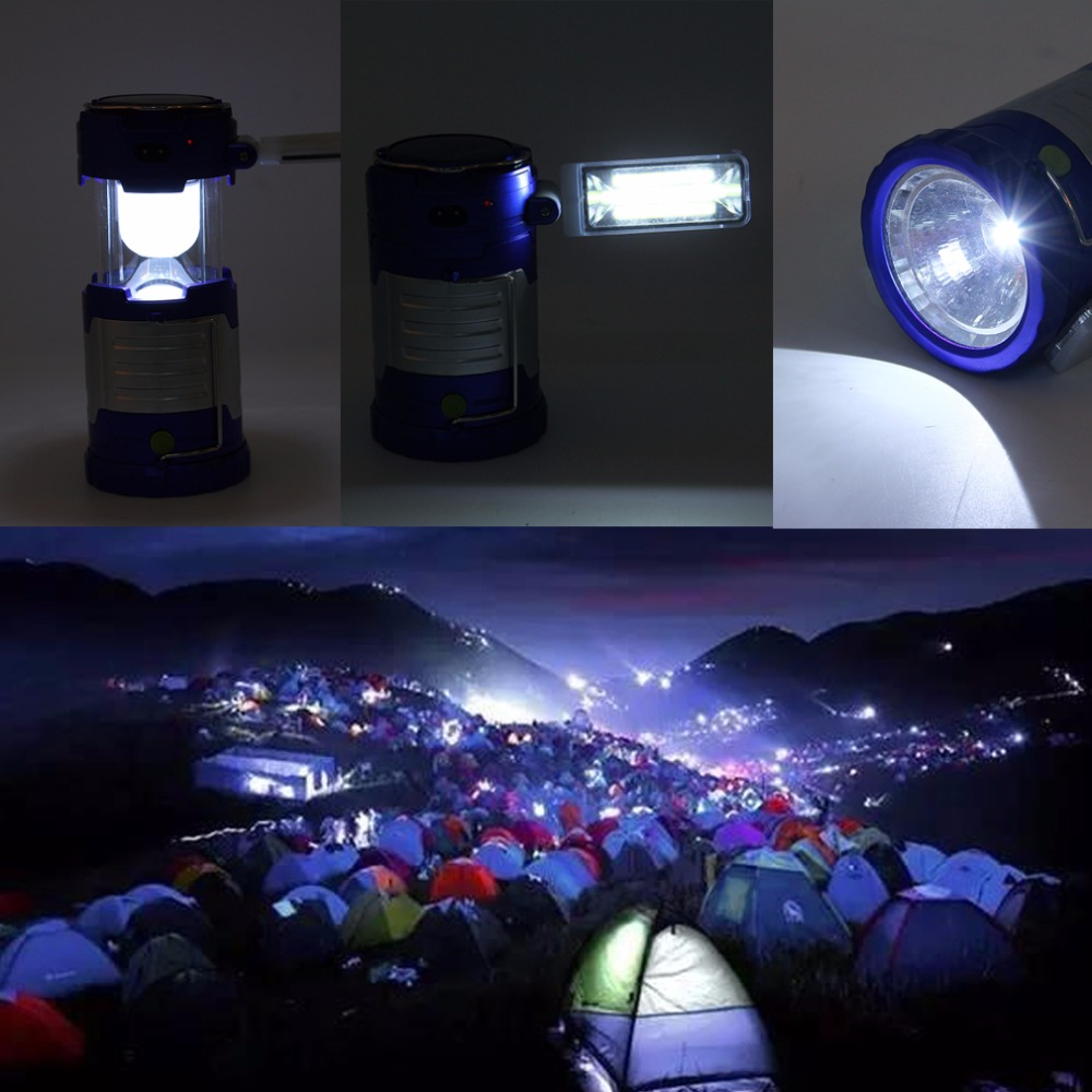 220V Camping Light Outdoor Rechargeable LED Flashlight Usb Solar Portable Camping Lantern Emergency Hot Sale