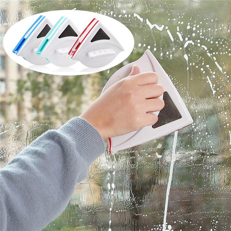Ev ve Bahçe'ten Temizlik Fırçaları'de Yeni pencere sileceği cam temizleyici fırça aracı çift taraflı manyetik fırça yıkama pencereler cam fırça temizleme aracı balık tankı temizlemek için title=