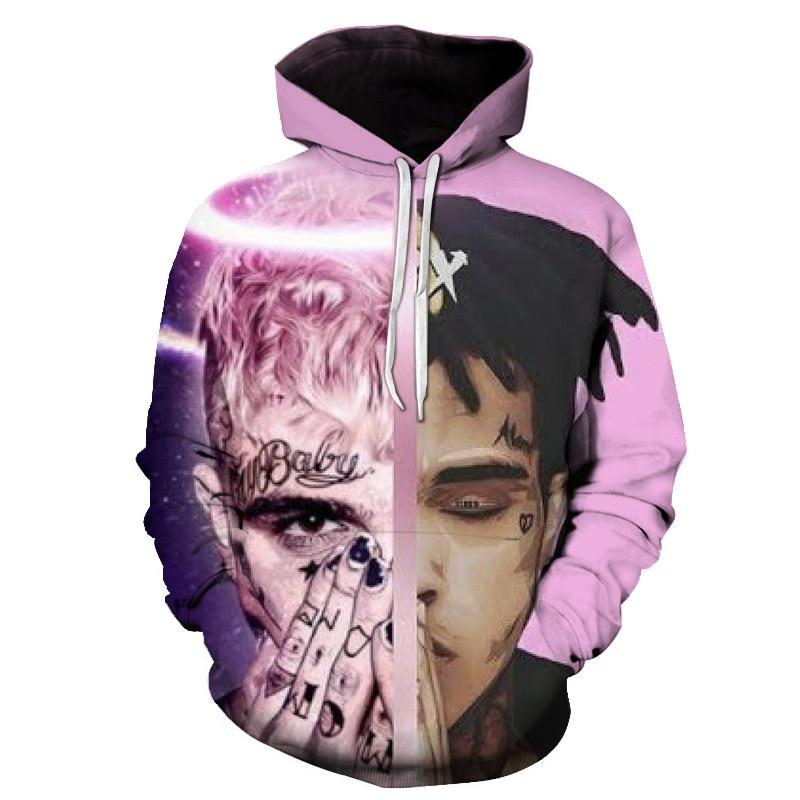 2019 Rapper Xxx Tentacion Cotton Hoodies Sweatshirts 3d Hip Hop Singer Xxxtentacion Uniform Mens Hoodies Hip Hop Sweatshirt