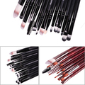 2016 New Arrival New 15Pcs Makeup Cosmetic Powder Foundation Eyeshadow Mascara Lip Eyebrow Brush Set Kit