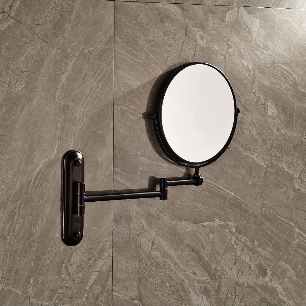 Round Oil Rubbed Bronze Dual Sides 8 Makeup mirror