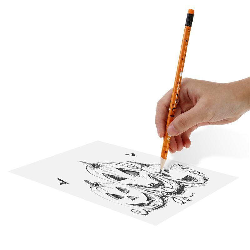 48 unids piezas Juego de lápices de Halloween con lápiz negro de ...